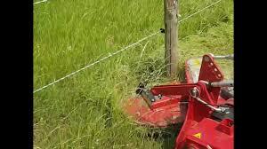 Rastermaster Mower To Cut Around Poles Youtube