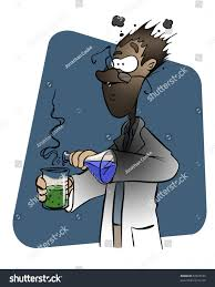 Experiment Backfires Into This Scientists Face Stock Illustration 97823189