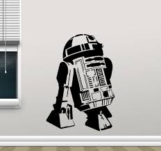Amazon Com Star Wars R2 D2 Wall Decal R2d2 Droid Robot Character Quote Living Room Wall Decals Lettering Vinyl Sticker Kids Wall Art Design Bedroom Nursery Wall Decor Stencil Wall Mural 61crt Kitchen