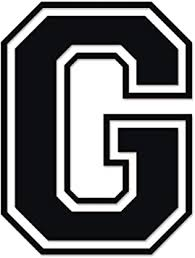 Amazon Com Applicable Pun Varsity Letter G Vinyl Decal For Outdoor Use On Cars Atv Boats Windows And More Black 3 Inches Tall Automotive