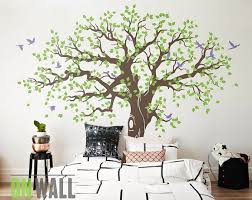 Large Tree Nature Vinyl Wall Tree Decal Nursery Wall Decals Etsy Vinyl Wall Tree Tree Wall Nursery Wall Decals Tree