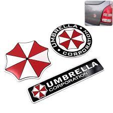 3d Resident Evil Corporation Umbrella Personality Cartoon Wall Sticker Car Decal Wish
