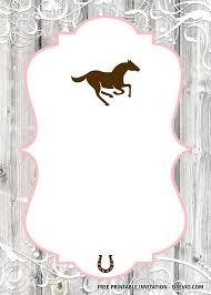 Free Printable Horse Birthday Invitation Templates Fiesta Con