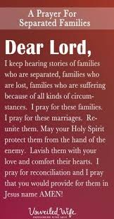 a prayer for separated families prayer for the day prayer for love