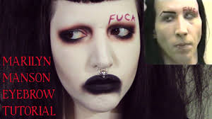 marilyn manson eyebrow makeup tutorial