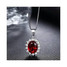 red blue stone necklaces pendants for