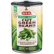 green beans peas h e b