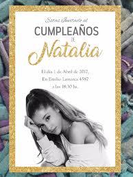 20 Invitacion Ariana Grande Cumpleanos 15 Anos Musica 480 00