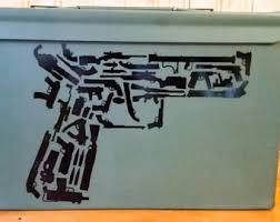 Pistol Decal Etsy