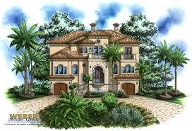 coastal terranean style home floor plan