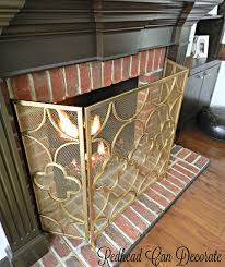 Gold Fireplace Screen