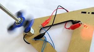 diy fidget spinner electricity generator