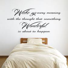 Wake Up Every Morning Inspirational Wall Sticker Quote Vinyl Etsy