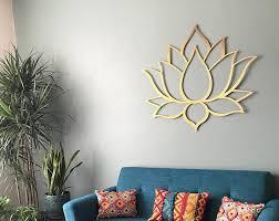 brushed lotus flower metal wall art