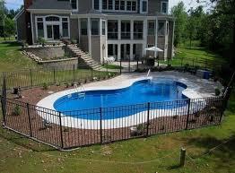 Backyards Pooldesigns Pool Backyard Pool Landscaping Inground Pool Landscaping Small Inground Pool