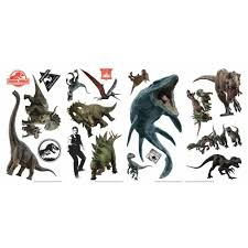 Roommates Jurassic World Fallen Kingdom Multi Peel And Stick Wall Decal Set Of 19 Rmk3798scs The Home Depot