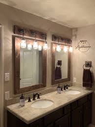 likable small wooden bathroom mirrors