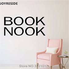 Joyreside Book Nook Wall Decal Words Quotes Lettering Wall Sticker Art Vinyl Decor Home Kids Playroom Decor Interior Design A852 Wall Stickers Aliexpress