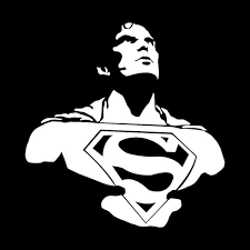 Superman Vinyl Decal Superman Sticker Superman Bust Man Of Etsy