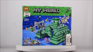 Mở hộp Bela 10734 Lego Minecraft 21136 The Ocean Monument giá sốc ...