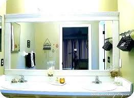 wood trim around bathroom mirror ccpdx co