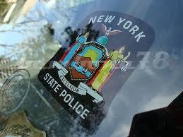 Ny New York State Police Inside Window Decal Sticker New 486334790