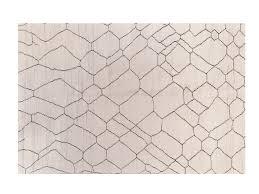 handmade wool rug with geometric shapes