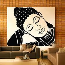 Large Sleeping Tathagat Buddha Vinyl Wall Art Decal