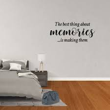 Wall Decal Quote The Best Thing About Memories Is Making Them Decor Office Vinyl Sticker Jp724 Walmart Com Walmart Com
