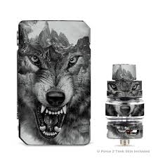 Skins Decals For Voopoo Drag 2 Kit Angry Wolf Growling Mountains Itsaskin Com