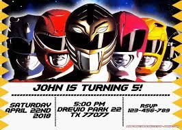 Free Power Rangers Birthday Invitation Templates Cumpleanos De