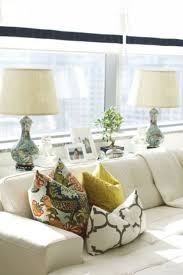 console table behind couch against a