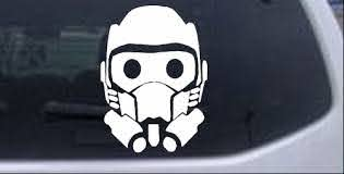 Guardians Of The Galaxy Star Lord Mask Car Or Truck Window Decal Sticker Rad Dezigns