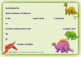 Edition Colibri 10 Invitaciones En Espanol Dinosaurio Juego De