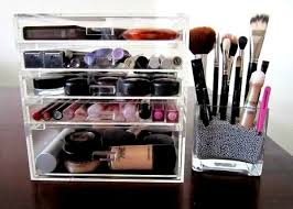 how to organize your makeup clean and