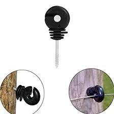 Vinbee 60pcs Black Electric Fence Insulator Screw In Insulator Fence Ring Post Wood Post Insulator Amazon Com Industrial Scientific