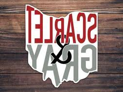 Scarlet And Gray Decal Oh Home Roots Ohio State Buckeyes Car Window Decal Home Garden Children S Bedroom Cars Decor Decals Stickers Vinyl Art Ayianapatriathlon Com