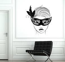 Wall Decal Carnival Mask Masquerade Sexy Hot Girl Sexy Vinyl Etsy