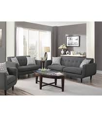stansall mid century modern grey sofa