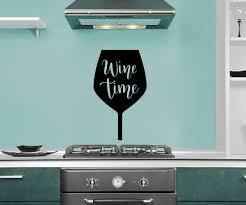 Ebern Designs Wine Time Vinyl Words Wall Decal Wayfair