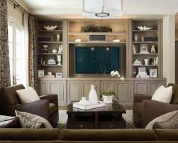 family room with no fireplace