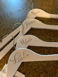 Custom Name Decals For Wood Hanger Bridal Party Decals Etsy