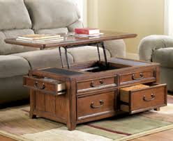 coffee table with storage drawers oak