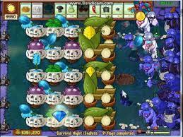 plants vs zombies survival night