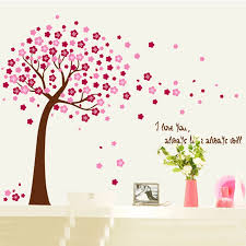 Large 3d Pink Flower Family Tree Wall Decals Removable Wall Pcitures For Living Room Family Tree Wall Decal Tree Wall Decalfamily Tree Aliexpress