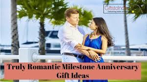 milestone anniversary gift ideas