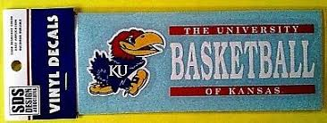 New Kansas Jayhawks Lot Of 3 Basketball Die Cut Window Decals Ku A110 Ebay