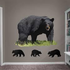 Fathead Black Bear Life Size Animal Removable Wall Decal Walmart Com Walmart Com