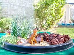 how to make a dinosaur garden for