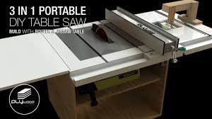 Homemade Portable 3 In 1 Table Saw With Built In Router And Jigsaw Table Part 1 Youtube